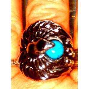 Navajo Style Silver Bird Ring SZ 9